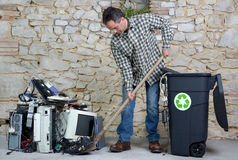 Computer recycling two Royalty Free Stock Photo