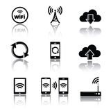 Computer related icons Stock Images