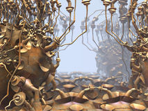 Computer rendered virtual scenery Stock Photo