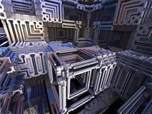 Computer rendered virtual scenery Stock Photos
