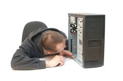 Computer repair Stock Photography