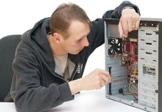 Computer repair Royalty Free Stock Photography
