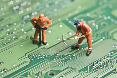 Computer repair Royalty Free Stock Photos