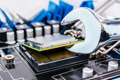 Computer repair royalty free stock photography