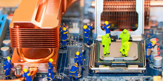 Computer repair concept Stock Images