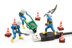 Computer repair concept Royalty Free Stock Photos