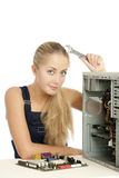 Computer Repair Engineer Royalty Free Stock Images