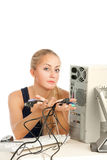 Computer Repair Engineer Stock Image