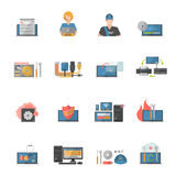 Computer Repair Icons Set Stock Images