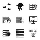 Computer repair icons set, simple style. Computer repair icons set. Simple illustration of 9 computer repair vector icons for web Stock Photo