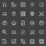 Computer repair icons Royalty Free Stock Image