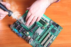 Computer repair and restore failures Royalty Free Stock Photos