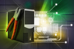 Computer repair service concept Royalty Free Stock Photography