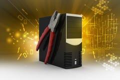 Computer repair service concept Stock Photo