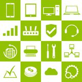 Computer repair service icons set Royalty Free Stock Photo