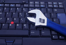 Computer repairs. Tools used to repair computers or laptops Stock Photo