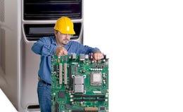 Computer-Reparatur (Konzept) mit Kopien-Raum Lizenzfreie Stockbilder