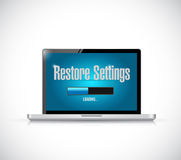 Computer restore settings bar illustration design Stock Photos