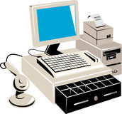 Computer retail point of sale Stock Photography