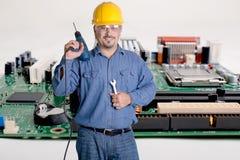 Computer, riparazione di elettronica Fotografia Stock