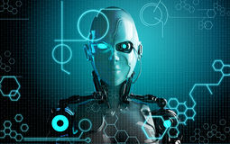 Computer robot background Stock Photos