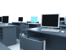 Computer room. Stock Photo