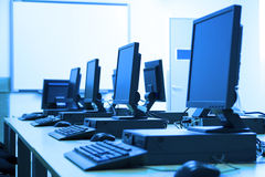 Computer room Royalty Free Stock Photography