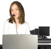 Computer room - customer services Stock Photography