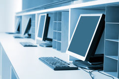 Computer room - pc Royalty Free Stock Photo