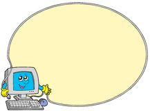 Computer round frame Royalty Free Stock Images
