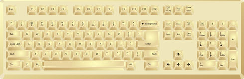Computer's keyboard Stock Image