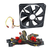 Computer's power supplies and Fan Stock Photo