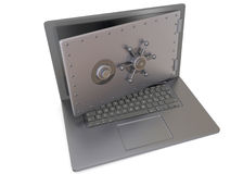 COMPUTER SAFE - 3D Royalty Free Stock Photography