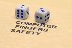 Computer safety concept Royalty Free Stock Images