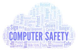 Computer Safety word cloud vector illustration
