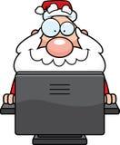 Computer Santa stock illustration