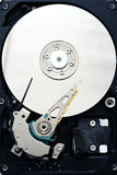 Computer sata hard disk drive internals close up Stock Photo