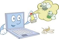 Computer schützt sich vor Viren Lizenzfreie Stockfotografie