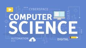 Computer science concept. Idea of digital data vector illustration