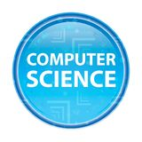 Computer Science floral blue round button stock illustration