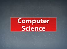 Computer Science Red Banner Abstract Background stock illustration