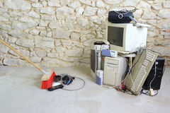 Computer scrap. Get rid of old computer equipment Stock Images