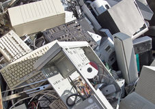 Computer scrap. Discarded obsolete electronic equipment / computer scrap Stock Photos