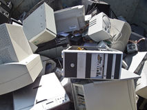 Computer scrap. Discarded obsolete electronic equipment / computer scrap Royalty Free Stock Photos