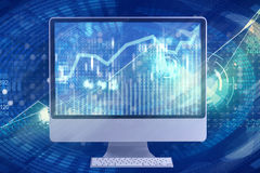 The computer screen in business concept Stock Photo