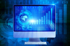 The computer screen in business concept Stock Images