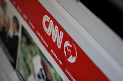 Computer screen CNN page Stock Photo