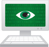 Computer Screen Eye Spy Royalty Free Stock Images