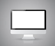 Computer screen on grey background. Illustration design Royalty Free Stock Image