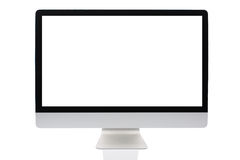 Computer screen isolated. On a white background Royalty Free Stock Image
